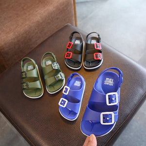 2019 Summer Boys Leather Sandals for Baby Flat Children Beach Shoes Kids Sports Soft Non-slip Casual