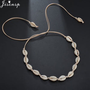 Jisensp Natural Summer Beach Shell Choker Necklace Simple Bohemian Seashell Necklace Jewelry for