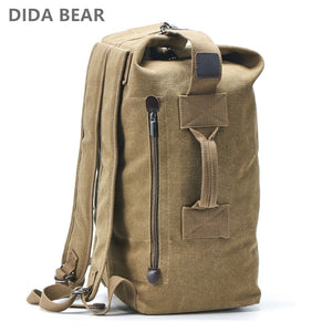 Large Capacity Rucksack Man Travel Bag Mountaineering Backpack Male Luggage Canvas Bucket Shoulder