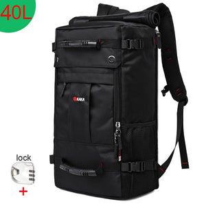 KAKA 50L Waterproof Travel Backpack Men Women Multifunction 17.3 Laptop Backpacks Male outdoor