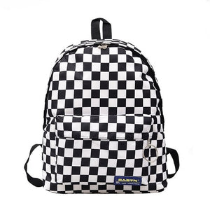 Unisex Plaid Nylon Female Travel Daypack Laptop Backpack Book Schoolbags Feminina School Casual