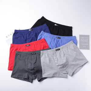 Hot Underpants 100% Cotton Quality Men's Male Underwear Classic Solid Fashion Pouch Trunks Short Boxers 4PCS