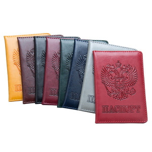 New High Quality Passport Cover for Men Women Travel Passport Case Russia Travel Document Cover SIM Passport Holders