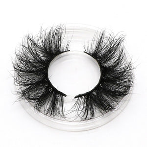 AHT 25mm Long Natural False Eyelashes Thick Faux Mink Lashes Eyelash Extension Supplies