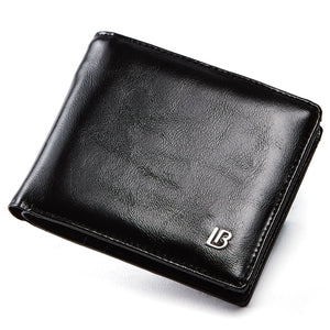 Genuine Leather Wallet Men New Brand Purses for men Black Brown Bifold Wallet Zipper Coin Purse