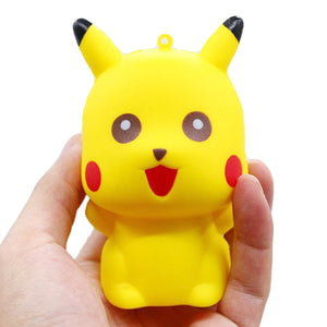 Jumbo Pikachu Squishy Cute Cartoon Doll Phone Straps Squeeze Toys Slow Rising Bread Scented Stress