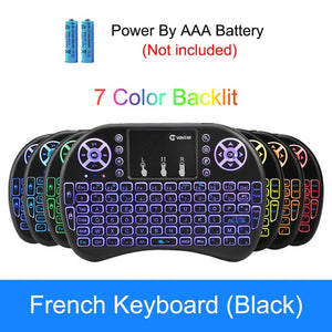 VONTAR i8 Wireless Keyboard Russian English Hebrew Version i8+ 2.4GHz Air Mouse Touchpad Handheld
