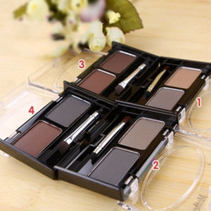 Mother Home Eyeshadow Cake Makeup 2 Color Waterproof Eyebrow Powder Eye Shadow Eye Brow Palette +