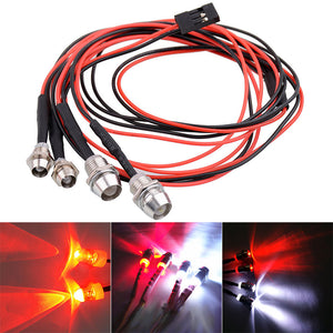 2/4 Lights 70cm Lenght RC LED Night Headlamps Headlights 3/5mm LED Light for Model Drift Crawler Car For RC Car NSV775