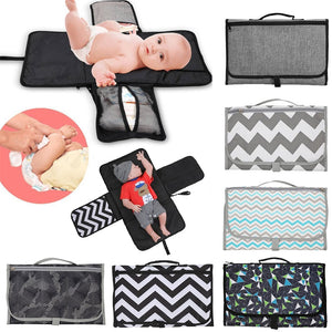 New 3 in 1 Waterproof Changing Pad Diaper Travel Multifunction Portable Baby Diaper Cover Mat