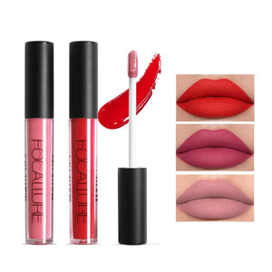 FOCALURE Brand Pro Makeup Waterproof liquid lipstick batom Tint Red Velvet True Brown Nude Matte