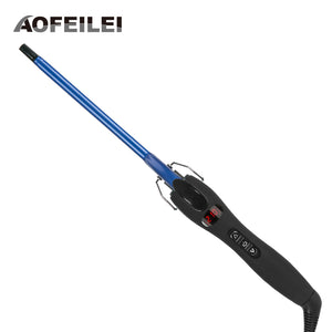 Aofeilei New Arrival professional 9mm curling iron Hair waver Pear Flower Cone electric curling wand