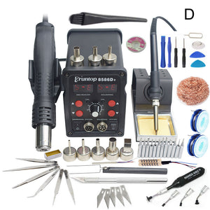 Eruntop 8586D+ Double Digital Display Electric Soldering Irons +Hot Air Gun Better SMD Rework Station Upgraded 8586 8786 8786D