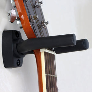 Black Guitar Hanger Hook Holder Wall Mount Stand Rack Bracket Display Strong Fixed Wall Guitar Bass Screws Accessories