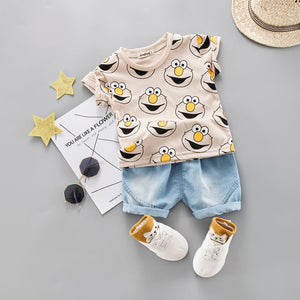 Baby Boy Clothing Set Cute Summer T-Shirt Cartoon Children Boys Clothes Shorts Suit for Kids