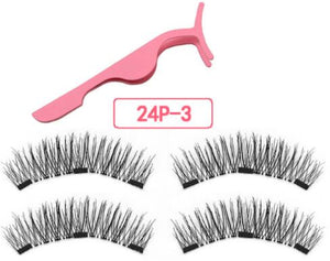 magnetic eyelashes with 3 magnetic magnets lashes natural false eyelashes magnet lash with eye