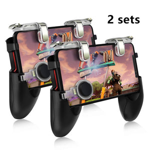DATA FROG Mobile Controller Trigger Game Fire Button Phone Joystick For PUBG For IPhone 7 8 Plus X