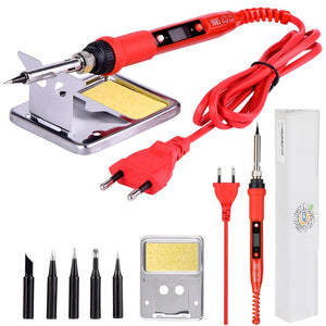 JCD 220V 80W LCD Electric Soldering iron 908S Adjustable Temperature Solder iron With quality