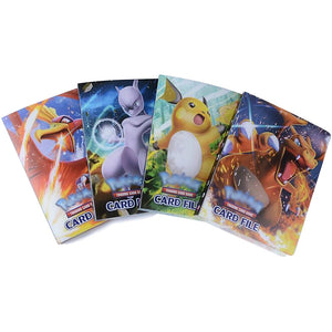 NEW 240 pieces Cards Cartoon Characters Card Collection Notebook Game Card Playing Album Pokemon Cards Holder Novelty Gift FREE
