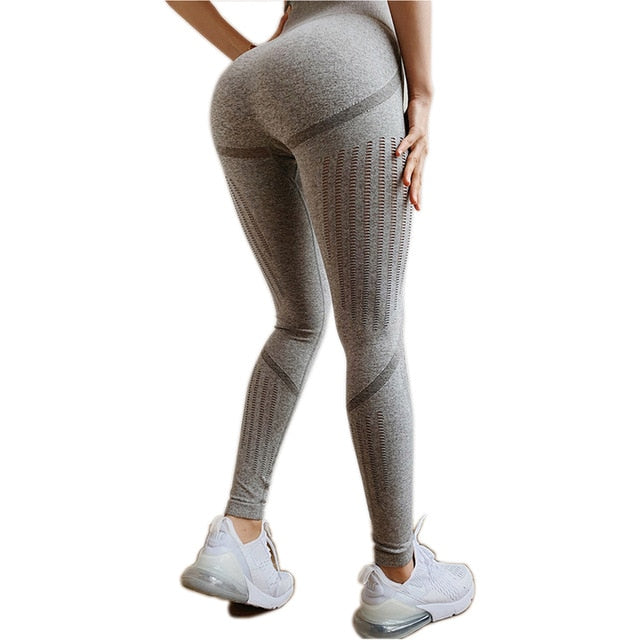 Seamless Tummy Control Yoga Pants Stretchy High Waist Compression Tights Sports Pants Push Up