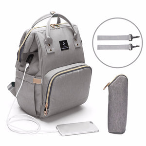 USB Baby Diaper Bags Large Nappy Bag Upgrade Fashion Waterproof Mummy Bags Maternity Travel Backpack