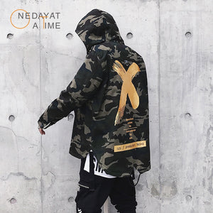 Newest Mens Jacket High Street Spring Men Camouflage X Print Jackets Fashion Cotton Windbreaker Coat