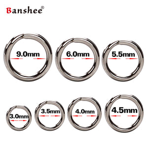 60/100Pcs Fishing Rings Stainless Steel Split Rings High Quality Strengthen Solid Ring Lure