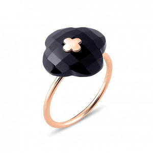 MORGANNE BELLO BAGUE VICTORIA OR ROSE ONYX