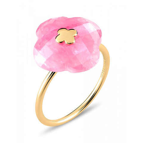 MORGANNE BELLO BAGUE VICTORIA OR JAUNE RHODOCHROSITE