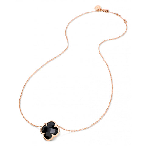 MORGANNE BELLO COLLIER VICTORIA ONYX OR ROSE 750