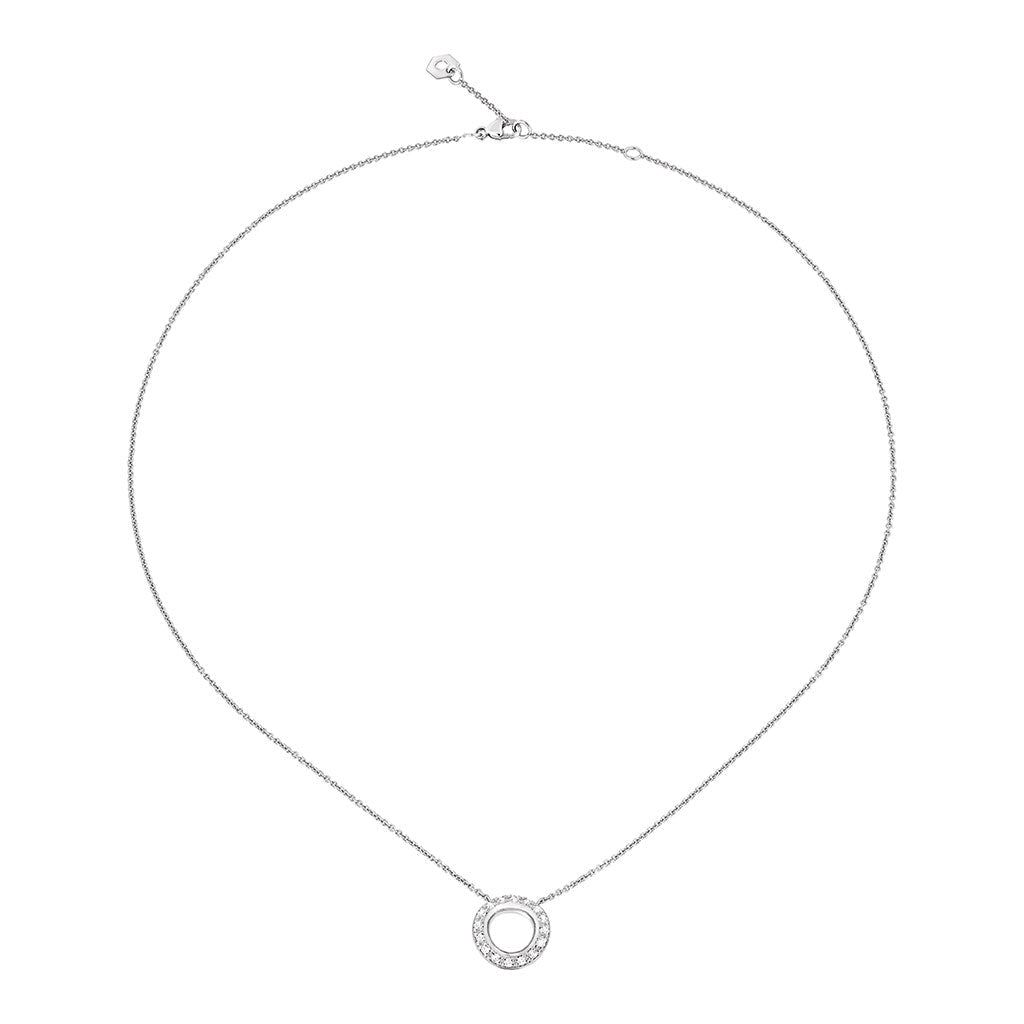 COLLIER PENDENTIF EN OR BLANC ET DIAMANTS IDOLE DE CHRISTOFLE