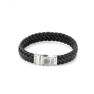 BRACELET REBEL & ROSE BRAIDED RAW MAT BLACK
