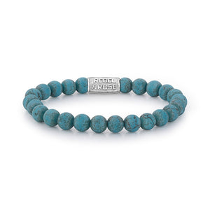 BRACELET REBEL & ROSE MAD TURQUOISE DELIGHT 8MM