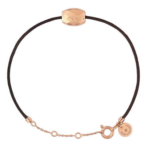 MORGANNE BELLO BRACELET FRIANDISE COUSSIN OR ROSE