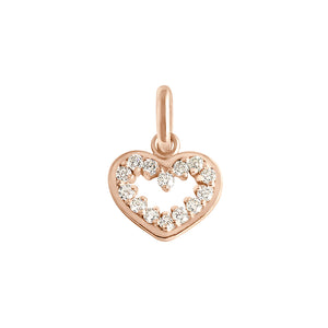 PENDENTIF GIGI CLOZEAU COEUR SUPREME OR ROSE DIAMANTS