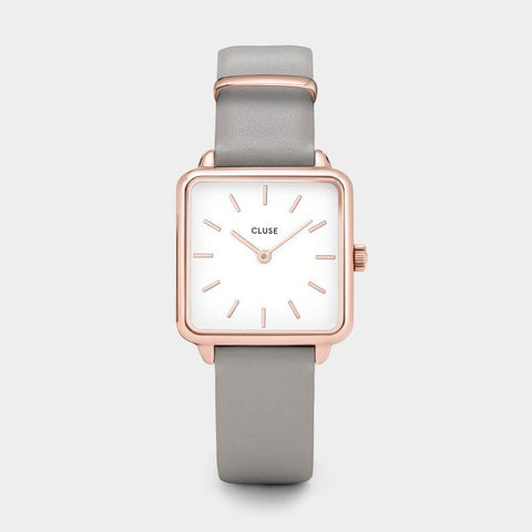 La Tetragone Leather Grey Rose Gold Colour