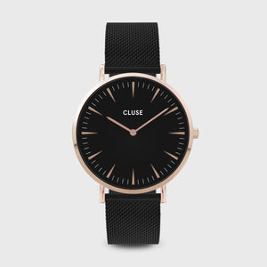 LA BOHÈME MESH BLACK, BLACK/ROSE GOLD