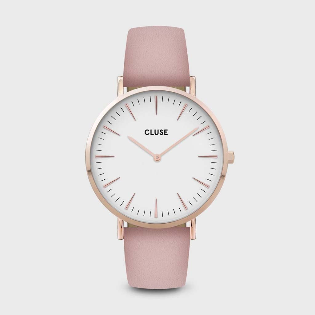 La Bohème Leather Rose Gold White/Pink