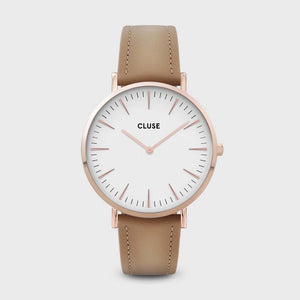 La Bohème Leather Rose Gold White/Hazelnut