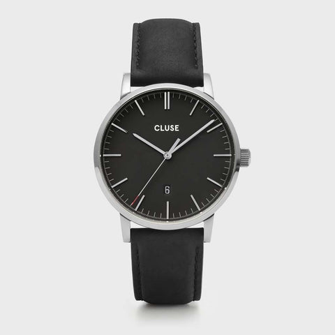 Aravis leather silver black/black