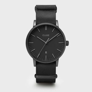 Aravis nato leather black, black/black