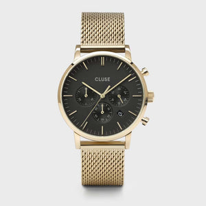 Aravis chrono mesh gold black/gold
