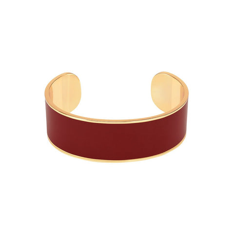 BANGLE 2CM ROUGE OBSCUR