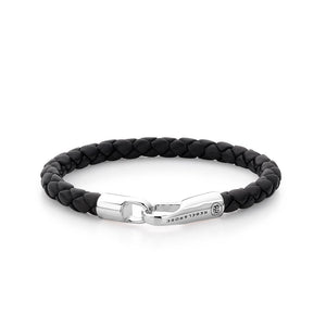 BRACELET REBEL & ROSE  BRAIDED HOOK BLACK