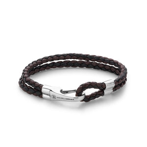 BRACELET REBEL & ROSE DOUBLE ROUND HOOK BLACK EARTH