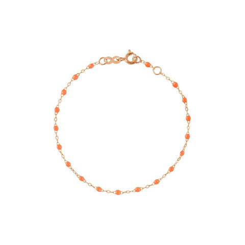 BRACELET GIGI CLOZEAU BEBE OR ROSE RESINE ORANGE
