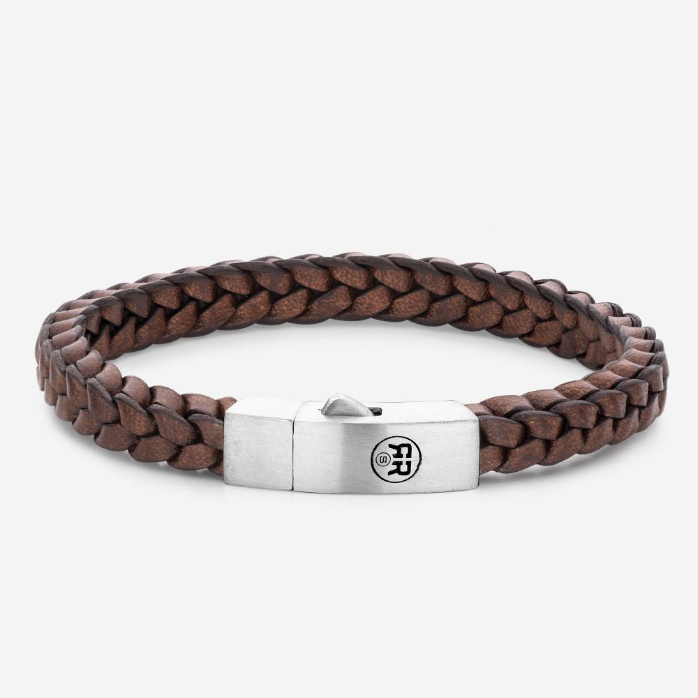 BRACELET REBEL & ROSE BRAIDED SQUARE 925 EARTH