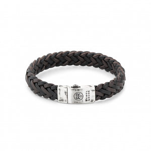 BRACELET REBEL & ROSE  BRAIDED RAW MAT BLACK-EARTH