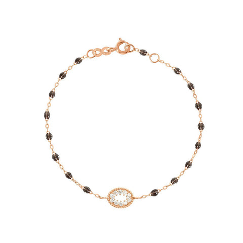 BRACELET GIGI CLOZEAU  OEIL DE PIRATE OR ROSE QUARTZ DIAMANTS