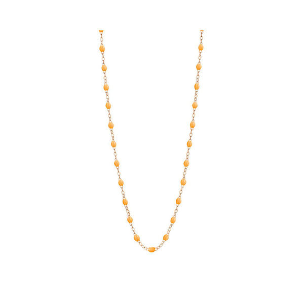 COLLIER GIGI CLOZEAU OR ROSE MANDARINE 50 CM